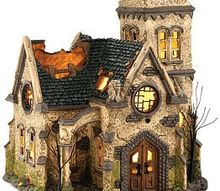 creating your own halloween village pieces, crafts, halloween decorations, seasonal holiday decor