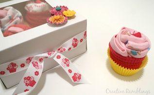 onesie cupcake gift, crafts