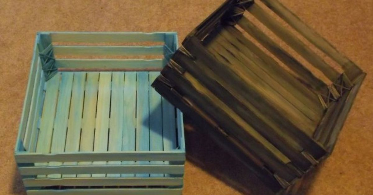 Make your own wood crate hometalk for Craft crates