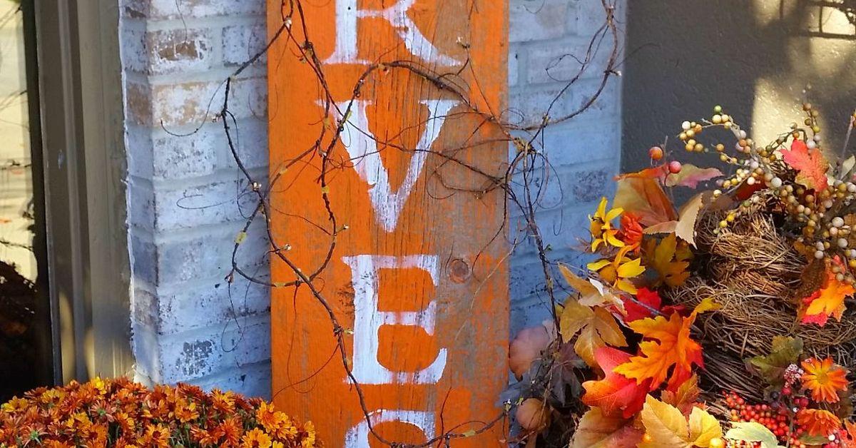 HARVEST Barnwood Sign for Fall   Hometalk