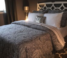 grey guest room makeover understated elegance and sparkle, bedroom ideas, home decor