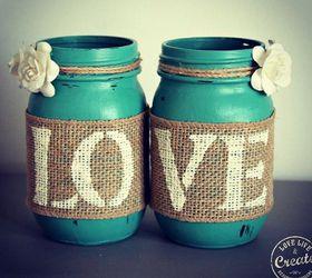 Customized Mason Jars, Chalk Paint, Crafts, Mason Jars, Repurposing  Upcycling