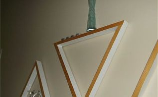 diy decorative wooden triangle shelves, diy, home decor, shelving ideas, wall decor, woodworking projects