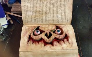 haunted book, crafts, halloween decorations