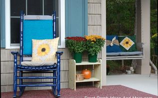 cute inexpensive wood stands for porch decor, diy, outdoor furniture, porches, seasonal holiday decor, woodworking projects