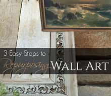 3 easy steps for repurposing old canvas art, crafts, repurposing upcycling, wall decor