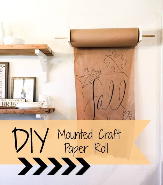 Diy Mounted Craft Paper Roll Hometalk