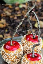 making faux caramel apples for fall decor, crafts, seasonal holiday decor