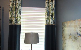 readymade makeover banded window treatment, home decor, reupholster, window treatments, windows