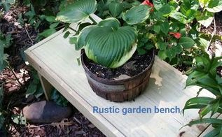 diy rustic garden bench for around 4, diy, gardening, outdoor furniture, rustic furniture, woodworking projects