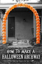 halloween pumpkin archway, halloween decorations, seasonal holiday decor