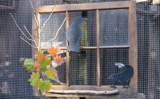 ravens in the window, crafts, halloween decorations, seasonal holiday decor