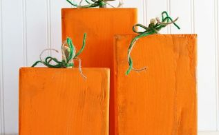 easy scrap wood pumpkins, crafts, seasonal holiday decor