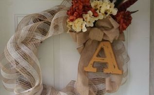 a sweet diy fall wreath, crafts, seasonal holiday decor, wreaths