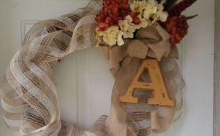 a sweet diy fall wreath, crafts, seasonal holiday decor, wreaths