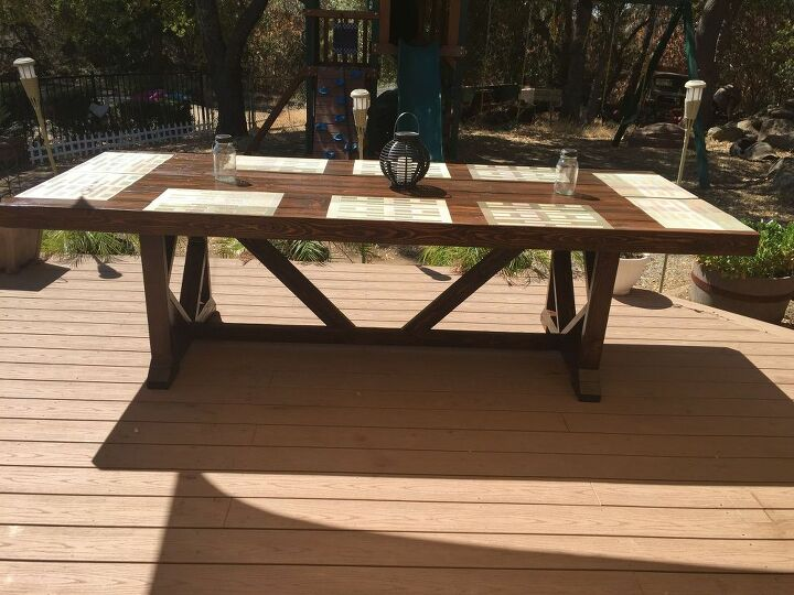 DIY Large Outdoor Dining Table - Seats 10-12 | Hometalk