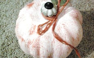 dollar store pumpkin makeover, crafts, seasonal holiday decor