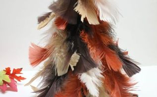 fall feather tree, crafts, seasonal holiday decor