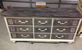 vintage dresser updated with paint, painted furniture