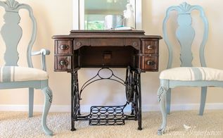 sometimes you just gotta leave em be antique sewing machine, repurposing upcycling