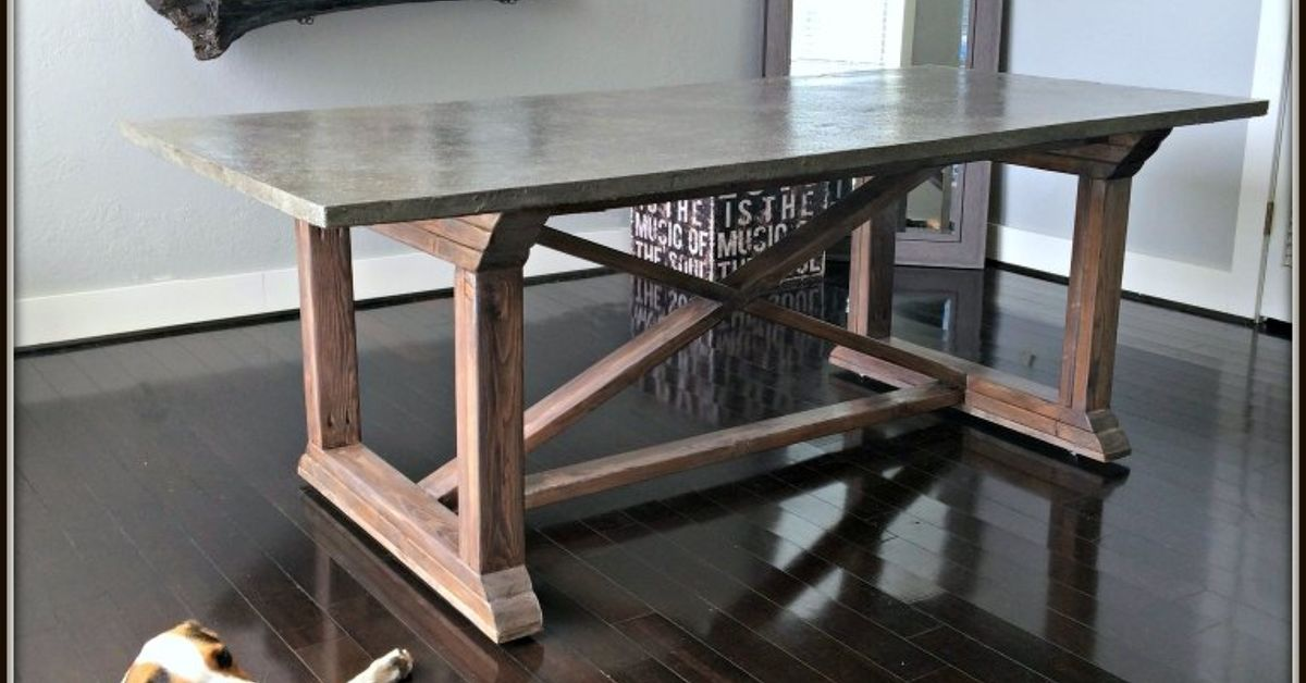 Concrete Top Dining Table Hometalk