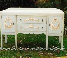 waterfall buffet makeover stunning, painted furniture