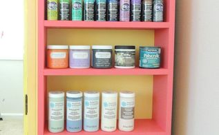 paint storage shelves built from scratch, painted furniture, shelving ideas, storage ideas