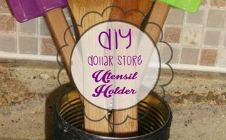 diy utensil holder dollar store craft, crafts