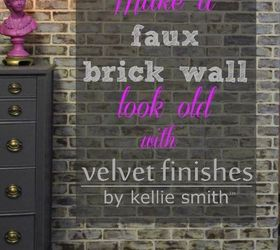 Diy Making Faux Brick Walls Look Old, Concrete Masonry, How To, Painting,