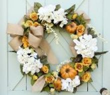 how to make a pumpkin wreath, crafts, how to, seasonal holiday decor, wreaths