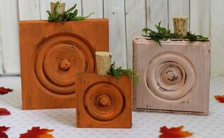 pumpkins made with trim corner blocks, crafts, how to, seasonal holiday decor