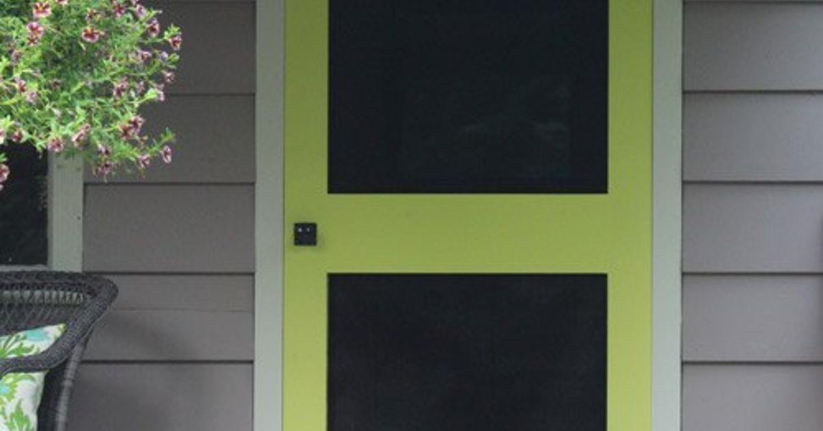 Can 39 t find a screen door you like build your own instead for Buy screen door
