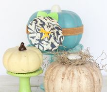 dollar store pumpkin makeover using paint and a handmade paper flower, crafts, halloween decorations, seasonal holiday decor