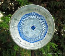 how to make a garden art dish flower, crafts, gardening, repurposing upcycling