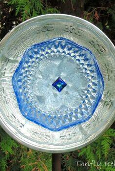 how to make a garden art dish flower, crafts, gardening, repurposing upcycling