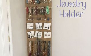diy jewelry holder, crafts, organizing