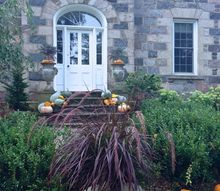 fall decorating at bannockburn 1878, container gardening, curb appeal, gardening, outdoor living, seasonal holiday decor