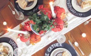 a thrifted fall table, crafts, repurposing upcycling, seasonal holiday decor