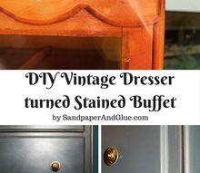 vintage dresser turned dining room buffet hometalkeveryday, painted furniture, repurposing upcycling
