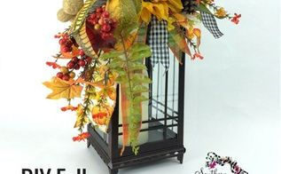 diy fall lantern swag, crafts, seasonal holiday decor