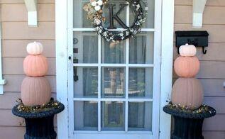 diy pumpkin topiaries, crafts, porches, seasonal holiday decor