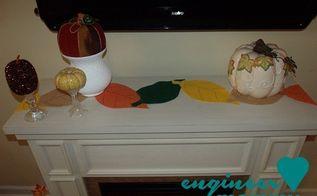 diy felt leaf table runner, crafts, seasonal holiday decor