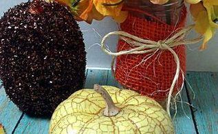 simple fall display w dollar store flowers, crafts, seasonal holiday decor