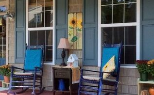joyful sunflower fall porch decor, curb appeal, flowers, porches
