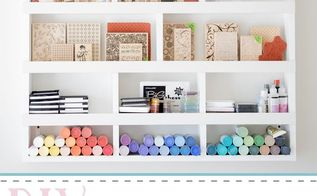 craft supply wall organizer, craft rooms, crafts, diy, organizing, shelving ideas, storage ideas, woodworking projects