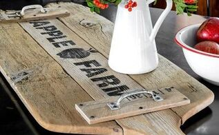 from broken fence to super sized antique cutting board tray, crafts, repurposing upcycling, wall decor, woodworking projects