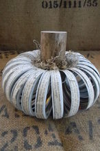 canning lid ring pumpkin with a text twist, crafts, halloween decorations, repurposing upcycling, seasonal holiday decor