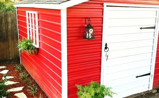 updating the old shed, outdoor living, painting