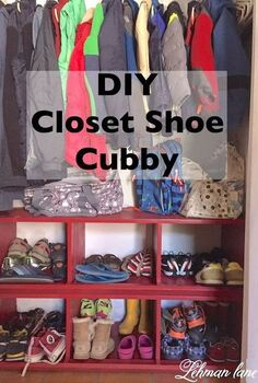 diy closet shoe cubby, closet, organizing, painted furniture, storage ideas, woodworking projects