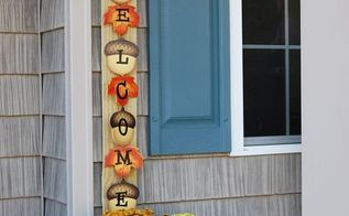 make a seasonal porch welcome sign from a fence slat, crafts, outdoor living, seasonal holiday decor